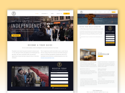 Website for The Tour Guide Academy ux website