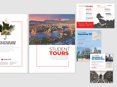 Brochure for Toonie Student Tours brochure design brown graphicdesign poster flyer brochure