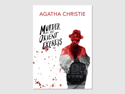 A book cover design of The Murder on The Orient Express book bookcover