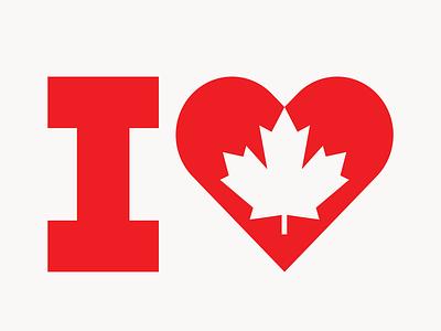 I LOVE CANADA ilovecanada logodesign logo canada