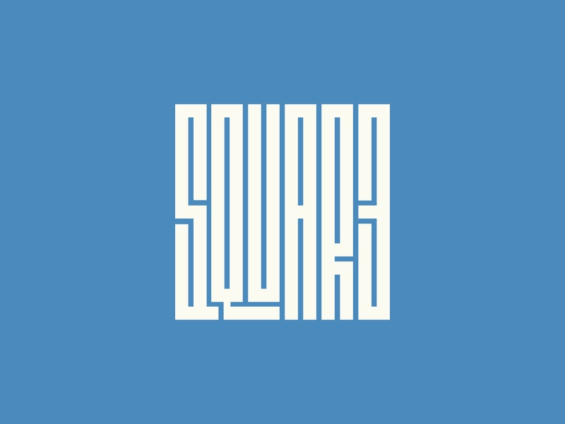 square typography typeface. lettering illustration logotype vector simple minimal flat design
