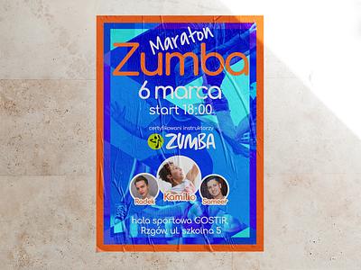 Zumba marathon poster marathon zumba poster a day local design local poster sports logo fitness event posters posterdesign zumba poster promo poster