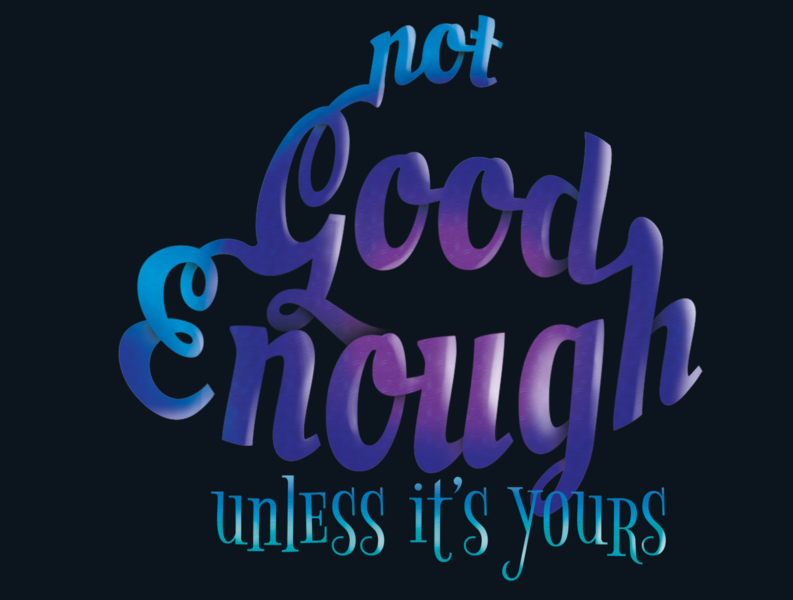 not good enough... font manipulation photoshop typography design typography art cover design book cover journal cover notebook cover