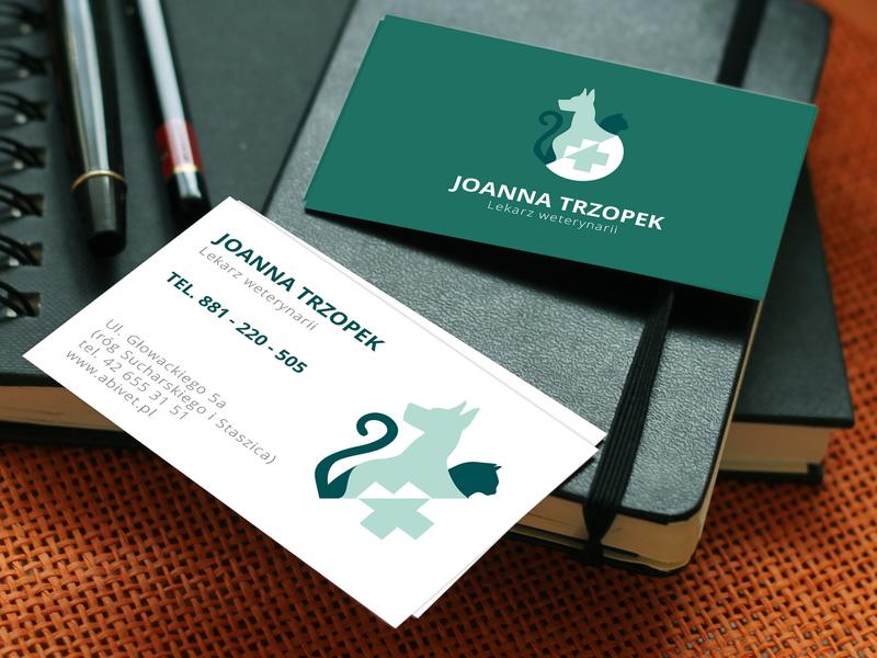ABIVET design business card mockup weterynarz logo vet logo design business card design