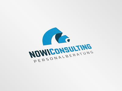 Nowi Consulting: Personalberatung logo design germany work agency design german logo design temp agency german job design logo design
