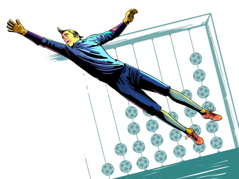 GoalKeeper icon web ux ui minimal illustrator animation vector illustration flat design