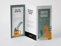 Green trifold
