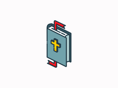 Bible - His Story church bible vector logo