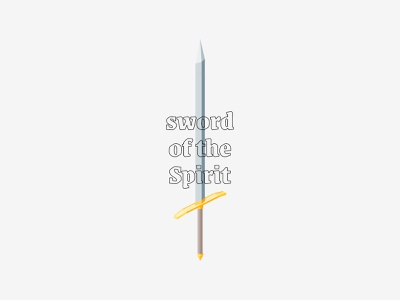 sword isometric illustration sword ephesians isometric illustration church bible logo icon