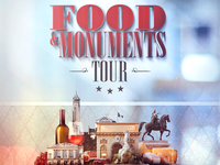 FOOD & MONUMENTS TOUR - poster