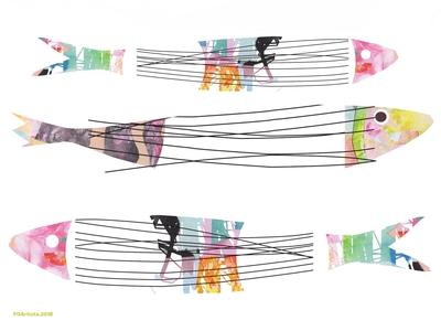 FOArtista, Illustration, My Lovely Sardines of Lisbon.