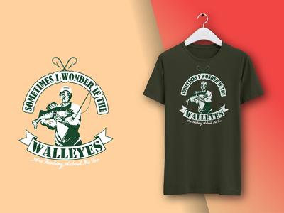 T-shirt design featuring the Walleye