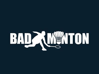 Badminton Text Design