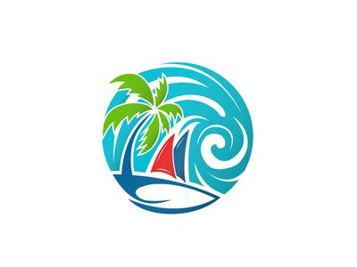 Boats Nature Wind Mixed Logo