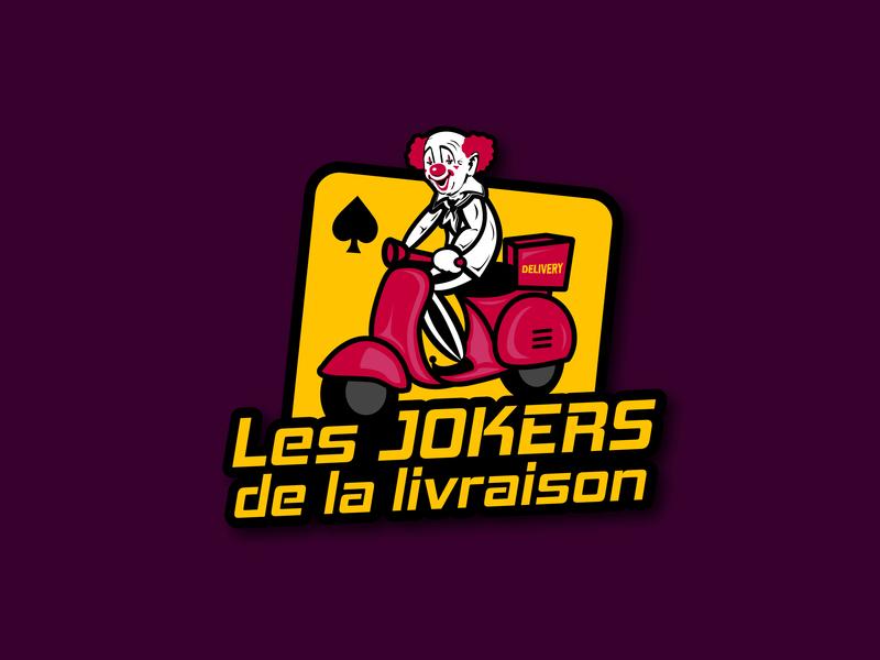 Joker Delivery Brand Logo logo creative vector illustration branding design