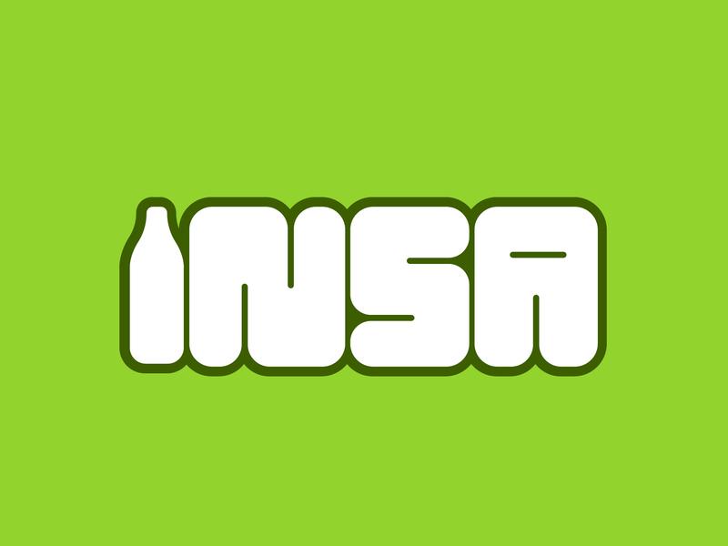 INSA Typography Logo logo creative vector illustration branding design