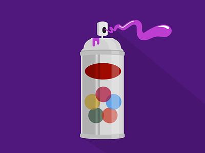 Spray Can vector flat spray can illustration