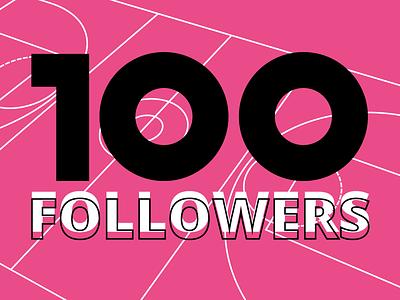 100 Followers! thank you followers celebration 100