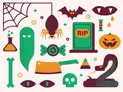 Happy Halloween halloween vector illustration flat