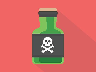 Poison potion poison flat illustration vector