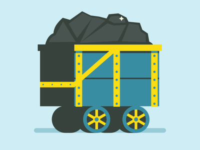 Mine Cart vector cart illustration flat