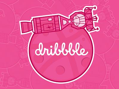 Dribbble Sticker Pack vector space illustration flat sticker