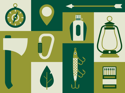Camping vector illustration flat