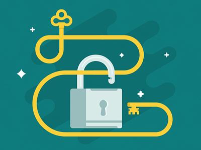 Unlock'd padlock vector illustration flat