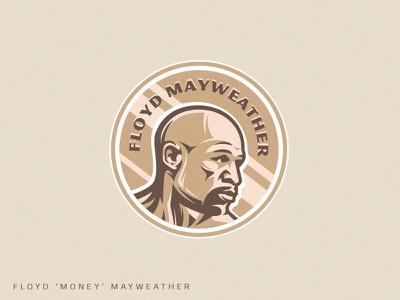 Champion sportsman medal gold floyd mayweather mayweather money floyd fighter mma boxing illustration muscle vector fitness design athlete team sport mascot logo