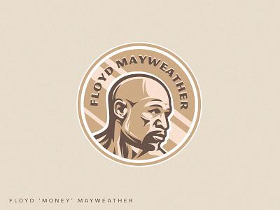 Champion sportsman medal gold floyd mayweather mayweather money floyd fighter mma boxing illustration muscle vector fitness design athlete team sport mascot logo