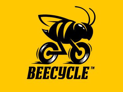 Beecycle logo sport moto motorcycle bike bicycle yellow bee