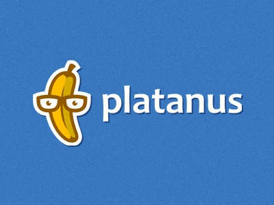 Platanus logo banana fruit nerd developer software