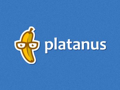 Platanus logo banana fruit nerd developer software