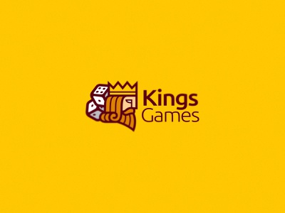 Kings Games play gold crown spades hearts king dice cards casino bet game branding illustration vector design team sport mascot logo
