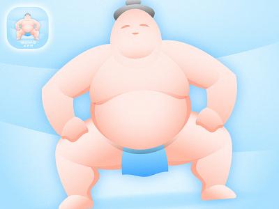 Sumo icon (details) modern app icon colorful gradient tradition japanese japan fatman fat sumo branding illustration vector design team sport mascot logo