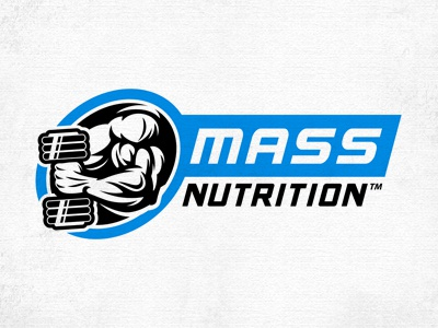 Mass Nutrition logo sport bodybuilding fitness athlete muscle power nutrition