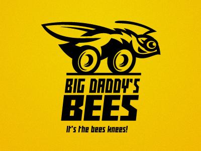 Big Daddy's Bees logo bee car hornet auto