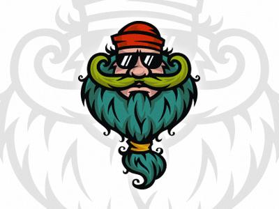 Bearded vector t-shirt rasta old man mustache joke hipster hippie fun cool bearded beard