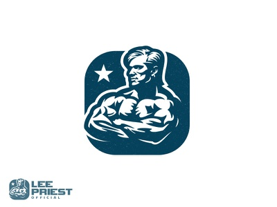 Lee Priest photo biceps gym ifbb power fitness athlete training muscle bodybuilding lee priest logo