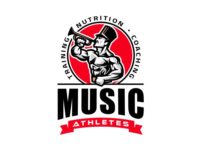 Music Athletes athlete biceps bodybuilding muscle gym training fitness branding logo