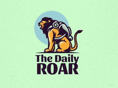 The Daily Roar nature zoo royal roar travel tiger cat wild animal lion mascot logo
