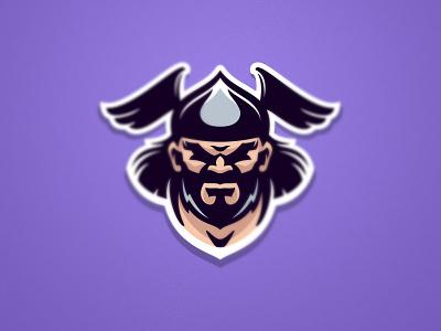 Vikings Mascot esport character branding cartoon helmet beard head barbarian warrior viking design team fitness athlete sport mascot logo