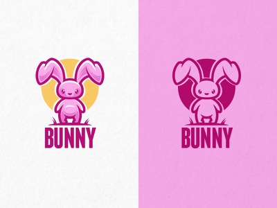 Bunny funny nature game zoo character pink store toy pet bunny cartoon animal mascot logo