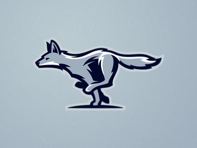 Coyote esport desert marathon wolf fox coyote runner run design illustration wild team animal mascot sport logo