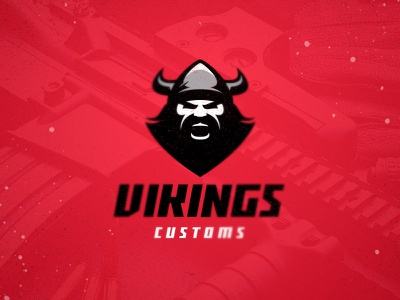 Vikings Customs weapon branding vector esport fitness man power wild scandinavian helmet bearded warrior barbarian viking design athlete team sport mascot logo