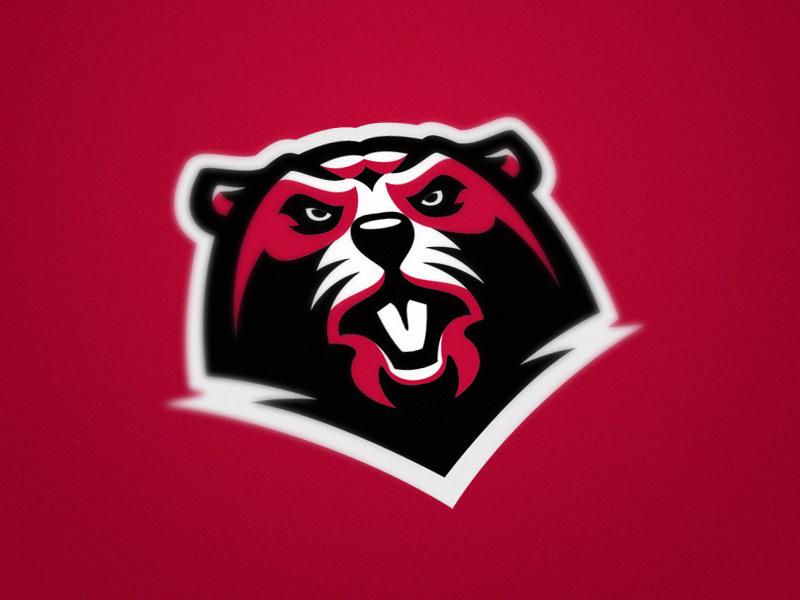 Beaver river red beaver illustration esport wild team animal logo sport mascot