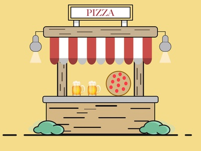 Pizza italian pizza illustrator illustration art affinity designer vector design