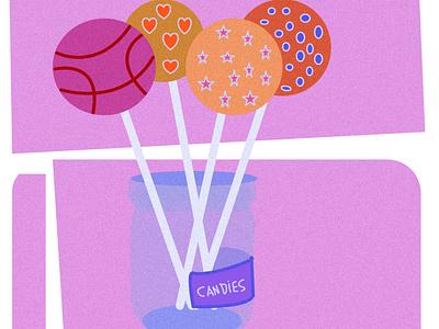 Candies candies illustration art affinity designer vector design