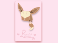 Eevee Enamel Pin (Mock Up Design)