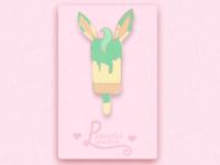 Leafeon Ice Cream (Pin Mock Up)